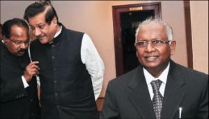 LAW MINISTER WITH THE CHIEF JUSTICE OF INDIA