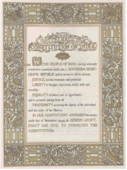 CONSTITUTUTION OF INDIA - PREAMBLE