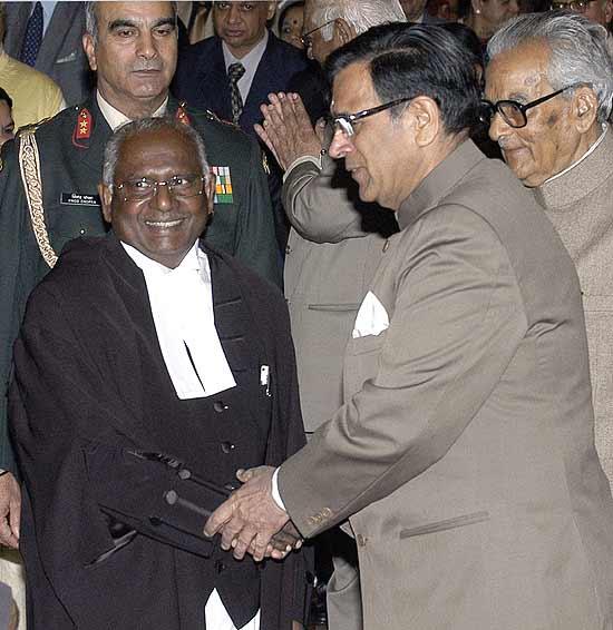 BALAKRISHNAN J. CONGRATULATED BY JUSTICE SABHARWAL